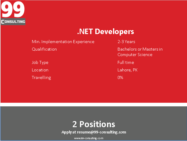 DotNet Developers