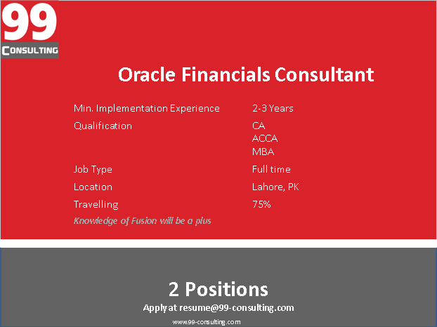 Oracle Financial Consultant