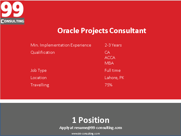 Oracle Projects Consultant